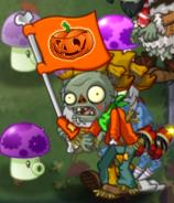 Lawn of Doom Flag Zombie lose arm