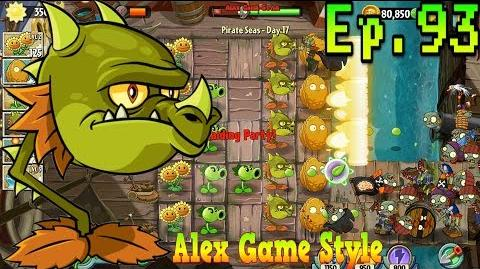 Plants vs. Zombies 2 Snapdragon in level - Pirate Seas Day 17 (Ep