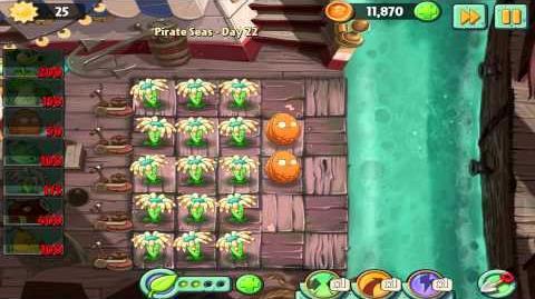 Plants vs Zombies 2 Pirate Seas Day 22 Walkthrough