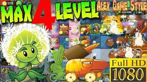 Plants vs. Zombies 2 (China) - Dandelion MAX 4 level - Far Future Day 21 (Ep