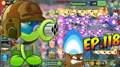 Plants vs. Zombies 2 (China) - Unlocked new Plant Gatling Pea - Far Future Day 4 (Ep