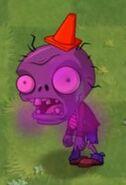 Stalled Big Brainz Conehead Zombie