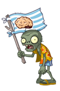 Beach Flag Zombie