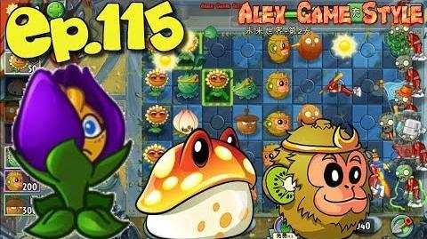 Plants vs. Zombies 2 (China) - Unlocked new Shrinking Violet - Far Future Day 2 (Ep