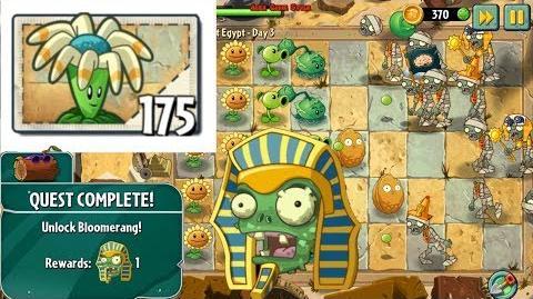 Plants vs. Zombies 2 Unlocked Bloomerang Travel Log Ancient Egypt Day 3 (Ep