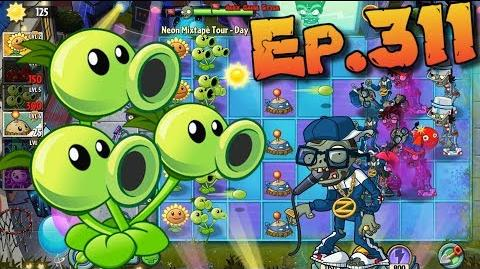 Plants vs. Zombies 2 Buying a new Plant Homing Thistle - Neon Mixtape Tour Day 11 (Ep.311)