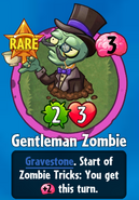 Receiving Gentleman Zombie