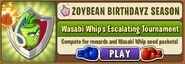 Wasabi Whip Escalating Tournament Main Menu