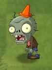 Shrunken Big Brainz Conehead Zombie