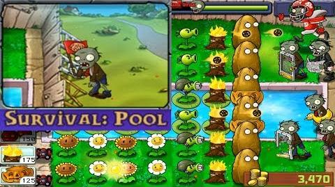 Plants vs. Zombies - Survival - Pool (Android Gameplay HD) Ep