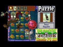 Plants vs. Zombies Dead Zeppelin Puzzle Classic PC HD (Ep