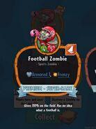 Football Zombie Description