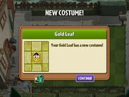 Getting Gold Leaf's First Costume
