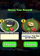 Choice between Smoosh-Shroom and Smackadamia