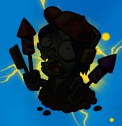 Fireworks Zombie silhouette