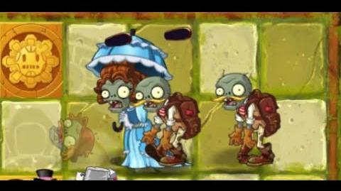 Plants vs Zombies 2 - Lost City Day 7 - Parasol Zombie