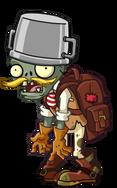 Buckethead Adventurer Zombie