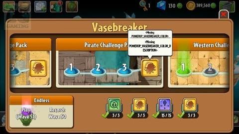 Plants vs Zombies 2 - Hidden Powerup in Vasebreaker Color Changer