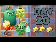 Plants vs Zombies 2 China - Renaissance Age Day & Night 20 -Locked and Loaded-《植物大战僵尸2》- 复兴时代 20天