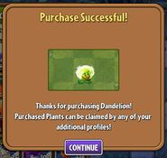 Dandelion Purchased (Money)