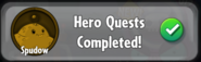 Spudow quest completed