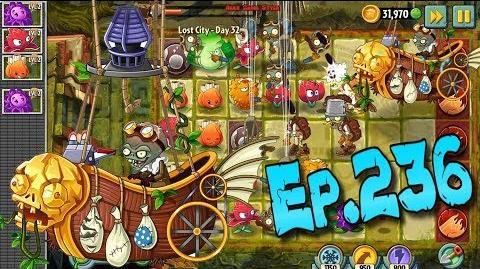 Plants vs. Zombies 2 Defeat Zombot Aerostatic Gondola - Lost City Day 32 (Ep