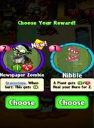 Choice between Newspaper Zombie and Nibble