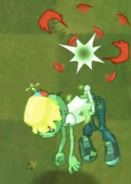 Balloonzombiebutteredwithhisballoonpoppedandcarrying plant food