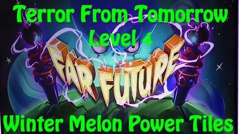 Terror From Tomorrow Level 4 Winter Melon Power Tiles Plants vs Zombies 2 Endless