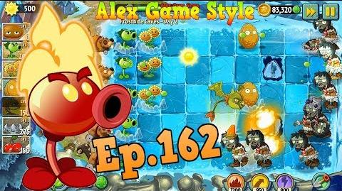 Plants vs. Zombies 2 Buying a new Plant Fire Peashooter - Frostbite Caves Day 2 (Ep