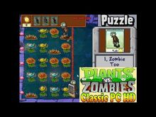 Plants vs. Zombies I, Zombie Too Puzzle - Classic PC HD (Ep