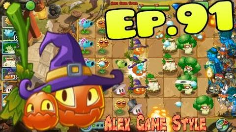 Plants vs. Zombies 2 (China) - Sunflower MAX 4 level, Pumpkin Witch - Kung-Fu World Day 6 (Ep