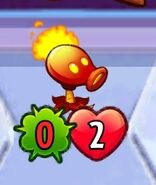 Shrunken Fire Peashooter crop
