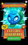Electric Blueberry in Weekly Events Ads