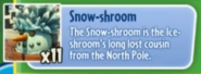 Snow-shroom description