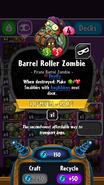 Barrel Roller Zombie statistics