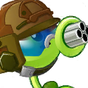 Gatling Pea Plant Icon Texture