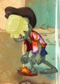 Buttered Pompadour Zombie
