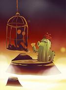 PvZ Cardz Cactus with a Hostage