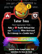 Tater Toss' statistics