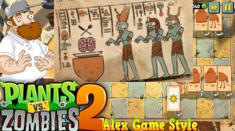 Plants vs. Zombies 2 Egyptians zombies pray to the God of the Brain Ancient Egypt Day 7 (Ep