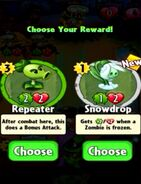 Choice between Repeater and Snowdrop