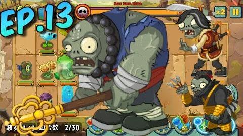 Plants vs. Zombies All Stars - All Bosses Kung-Fu World, New Plant, Upgrade Plant, Power Up (Ep