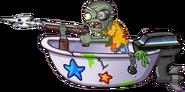 Bath Tub Hunter Zombie