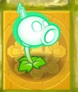Electric Peashooter Gold Tile