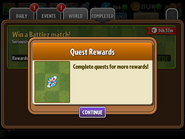 Obtaining Mint From Completing Quest