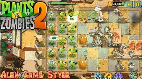 Plants vs. Zombies 2 First last stand Ancient Egypt Day 18 (Ep