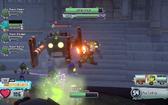 Electro Pea attacking a Robo-Zombie, along a Computer Scientist and a Mech Gargantuar