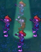 Old zombie dance hypnotized with old backup zombie dance