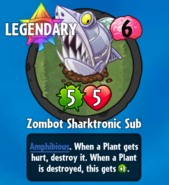 Receiving Zombot Sharktronic Sub-0